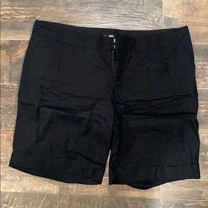 Mossimo black linen bermuda shorts
